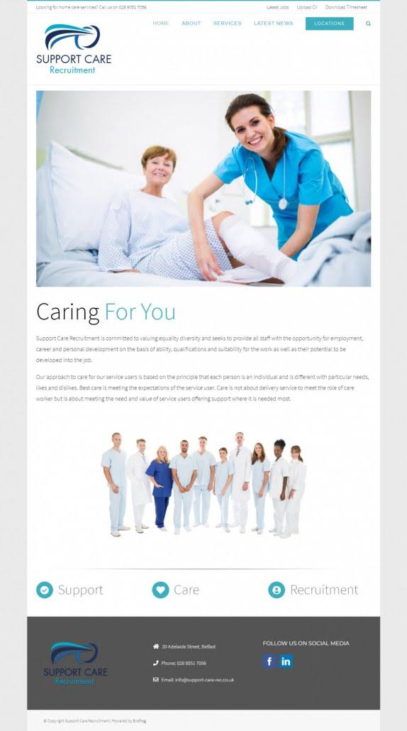 Support Care Recruitment Website