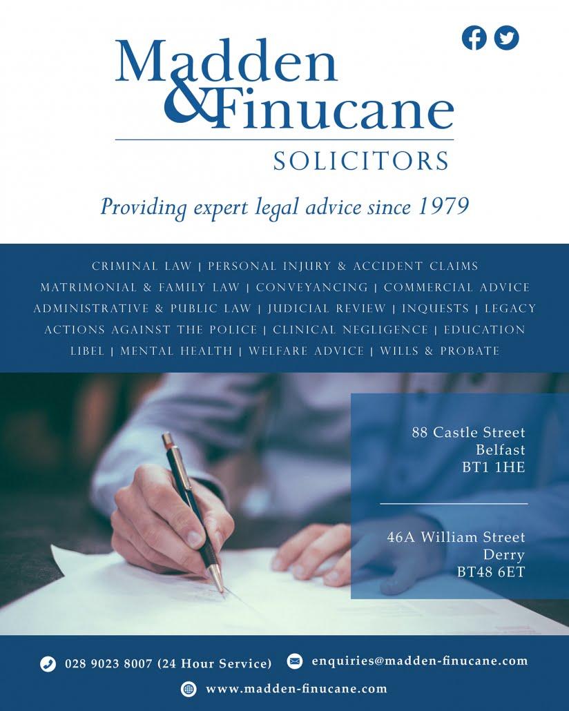 Madden & Finucane Solicitors - Newspaper Advert